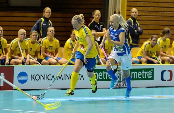 Ruotsi latoi peräti 12 maalia Suomen verkkoon naisten EFT-turnauksessa. Arkistokuva: IFF