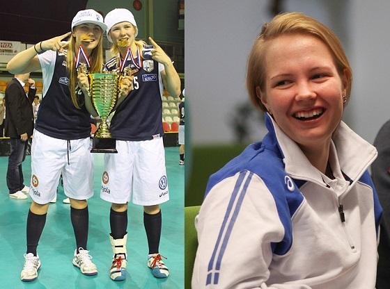 Alisa Pöllänen on noussut niin seura- kuin maajoukkuessakin avainasemaan. Kuva: Salibandyliiga