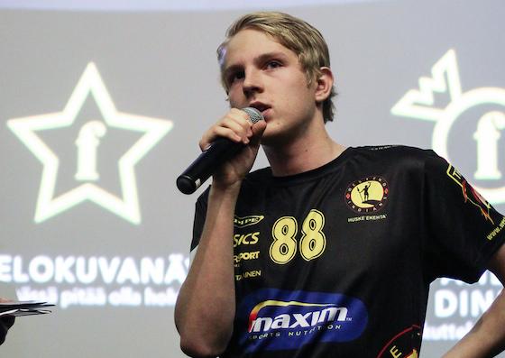 Markus Markkola on Pääkallo.fi:n arvion mukaan liigan paras junioripelaaja. Kuva: Mika Hilska