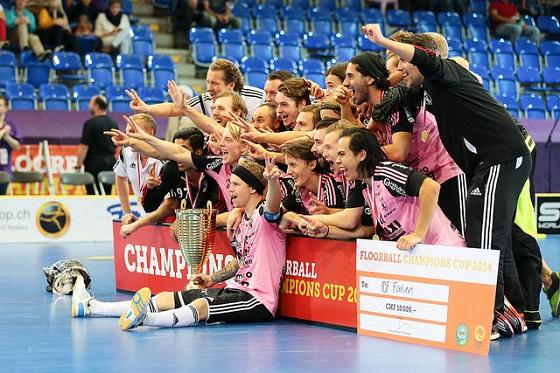 Falun ja ruotsalaiset juhlivat Champions Cupissa. Kuva: IFF