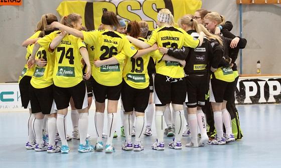 PSS juhli viime kaudella tyttöjen SM-kultaa. Kuva: Esa Takalo