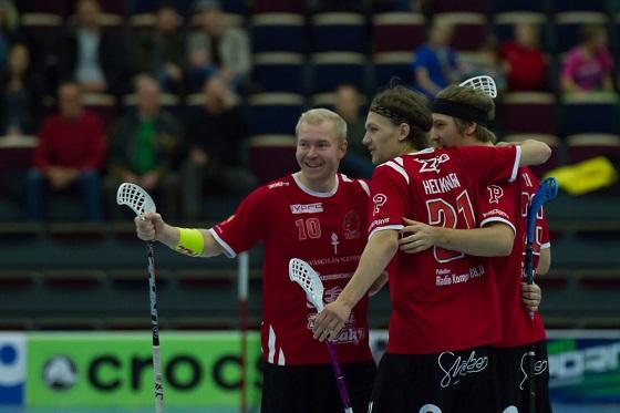 Petri Kauko (1+2  )ja Juuso Heikkinen (2+0) olivat tänään vahvalla pelipäällä. Kuva: Topi Naskali