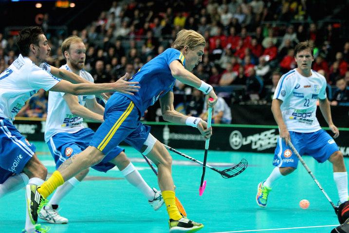 Kim Nilsson syötti tänään kaksi Ruotsin ylivoimaalia. Kuva: IFF.