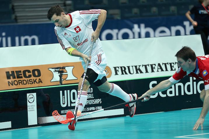 Nico Scalvinoni teki maanantaina toisen Sveitsin maaleista. Kuva: IFF.