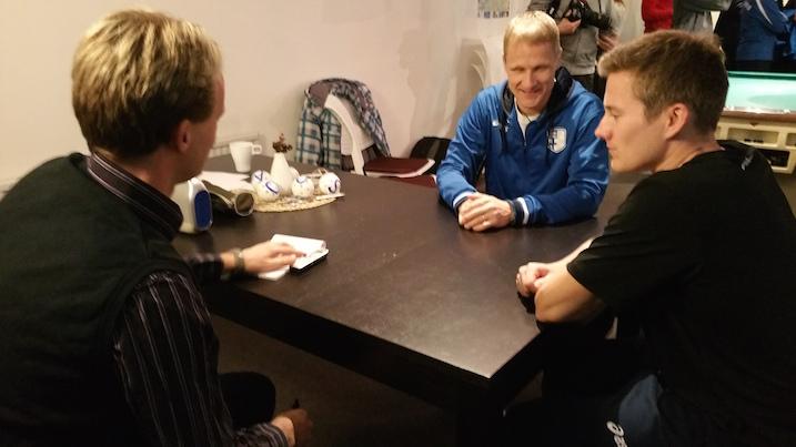 Karjalaisen toimittajan haastattelusssa Joensuun omat pojat Petri Kettunen ja Tatu Väänänen.