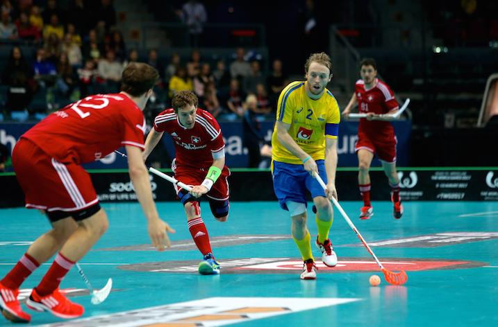 Johan Samuelssonin johtama Ruotsi jyräsi Sveitsin. Kuva: IFF