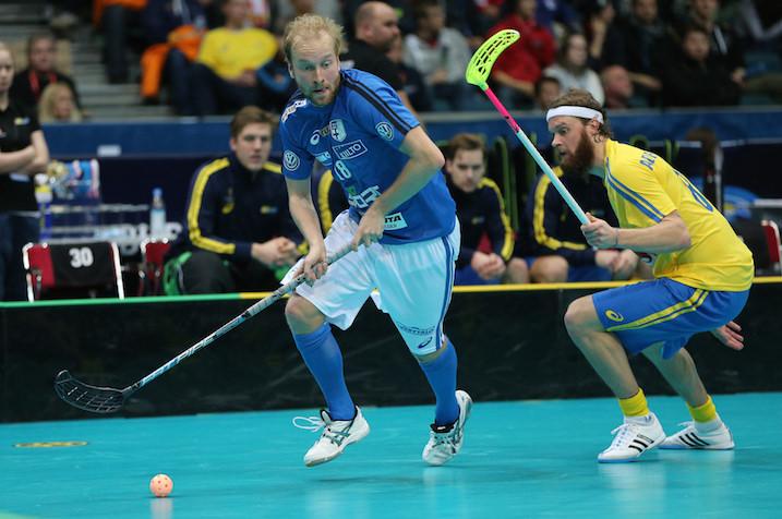 Lauri Kapanen pelasi hyvän MM-finaalin. Kuva: Salibandyliiga