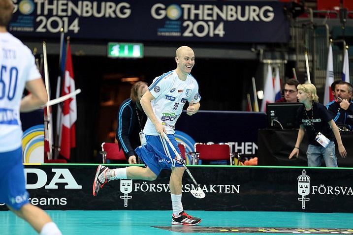 Kovaluinen Lauri Stenfors  painoi Norjaa vastaan hymy huulilla. Kuva: IFF