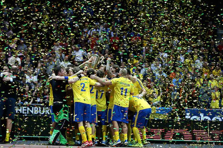 Ruotsi juhlii toista peräkkäistä MM-kultaansa. Kuva: IFF