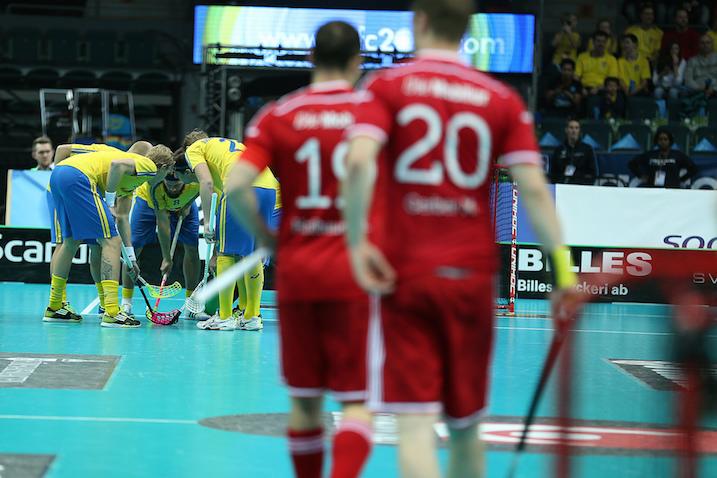Tunteet kävivät kuumina Ruotsin ja Sveitsin välisessä MM-välierässä. Kuva: IFF