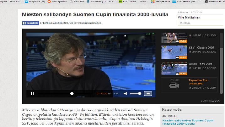 Petteri Nykky toimi vuoden 2007 finaalin kommentaattorina. Kuva: Kuvakaappaus videolta