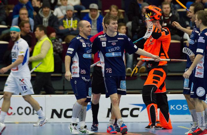 Classicin kolmoskenttä kuritti tänään entistä seurakaveria, KrP-maalivahti Pekka Niemistä, kolmeen otteeseen. Kuva: Topi Naskali.