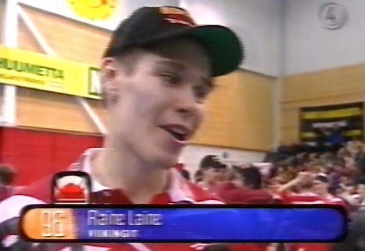 Raine Laine ratkaisi Suomen mestaruuden keväällä 1998. Finaalisarjan televisio Nelonen.