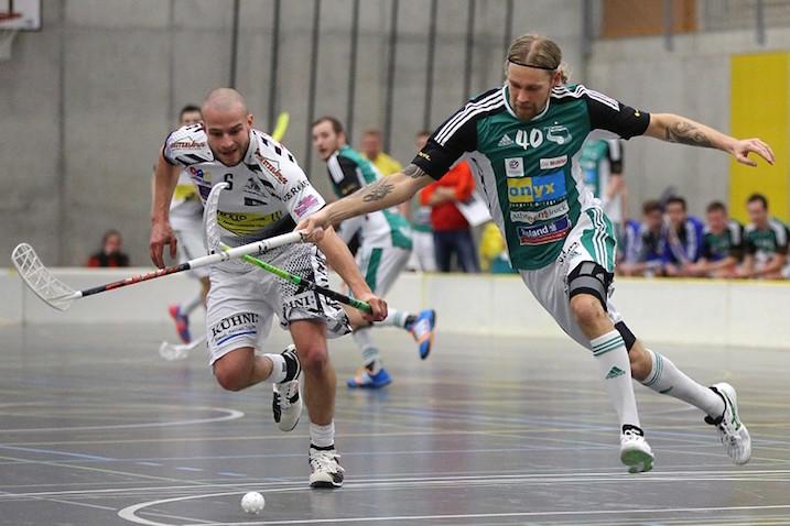Lassi Vänttinen ei ole jäänyt pisteittä yhdessäkään plaoff-kamppailussa. Kuva: Wilfried Hinz / unihockey.ch