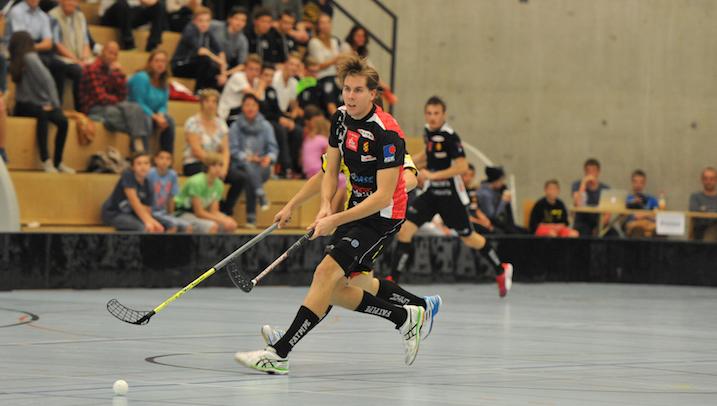 Mikko Hautaniemen harteilla lepää HC Rychenberg Winterthurin menestys. Kuva: Damian Keller / unihockey.ch