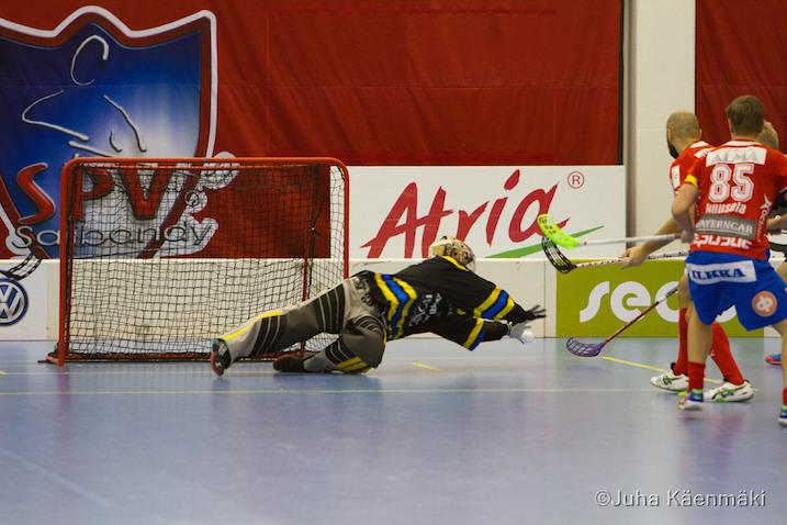 Jarno Ihme pelasi tänään huikean ottelun. Kuva: Juha Käenmäki.