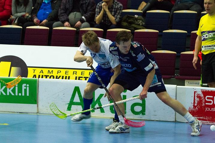 Erän Jussi Kosola väänsi ansiokkaasti Tampereella ja paukutti siinä sivussa tehopisteet 2+1. Kuva: Topi Naskali