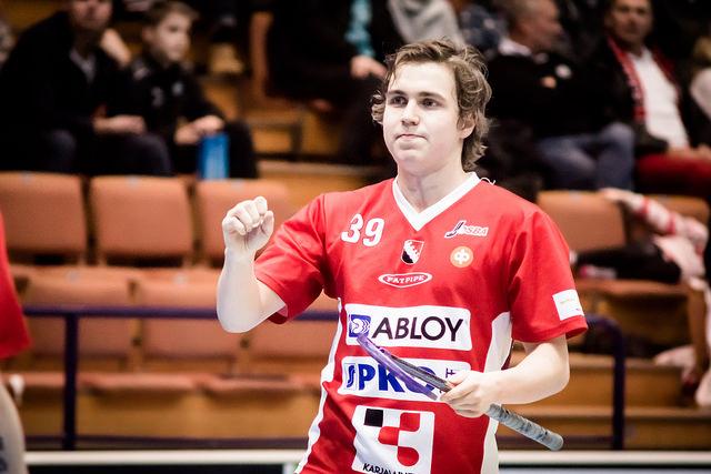 Pauno Kajoksinen iski kauden kahdessa Salba-pelissä tehot 3+4. Kuva Anssi Koskinen.
