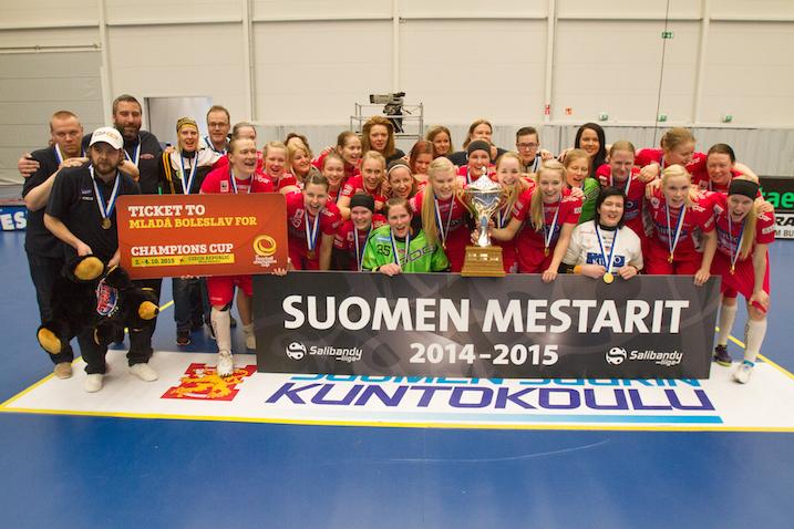 Tampereen Classic voitti tänään historiansa kahdeksannen Suomen mestaruuden. Kuva: Topi Naskali.