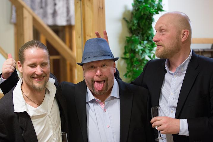 SSV-miehet Mikael Järvi, Mika Ahonen ja Petri Huttunen. Kuva: Timo Tuunanen