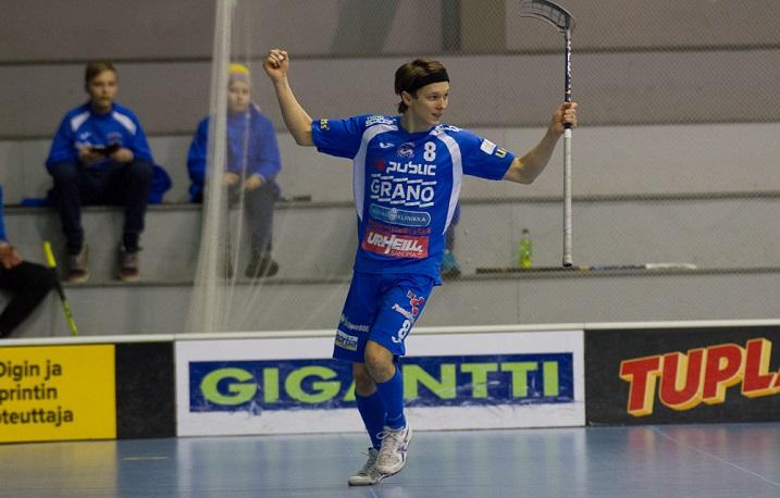 Kalle Keskitalo esiintyi menneellä kaudella edukseen Nokian KrP:n riveissä. Keskitalo tuli joukkueeseen OLS:n A-junioreista. Hän ja Johannes Jokinen ovat olleet viime vuosina seuran parhaita kaappauksia. Kuva: Topi Naskali