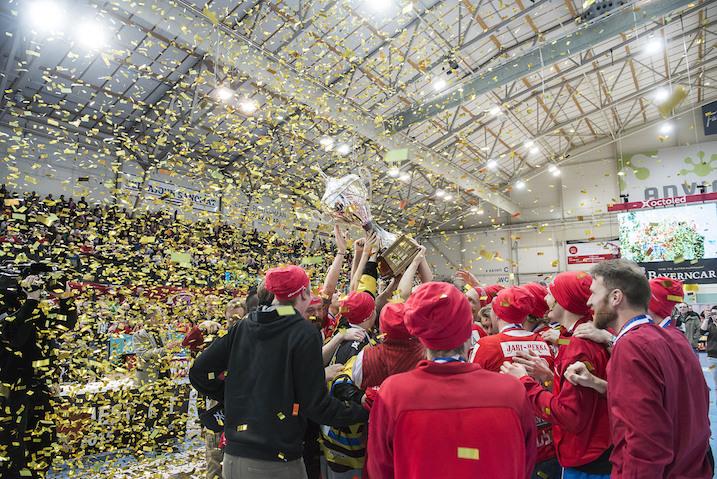 SPV voitti sunnuntaina seurahistoriansa kolmannen mestaruuden. Kuva: Esa Jokinen