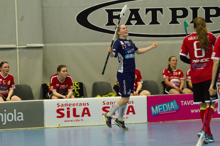 Kristiina Kauppila ratkaisi naisten toisen finaalin. Kuva: Topi Naskali