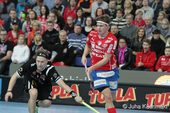 Jukka-Pekka Pelto-Arvo oli vaikea pideltävä Happee-puolustukselle. Kuva: Juha Käenmäki.