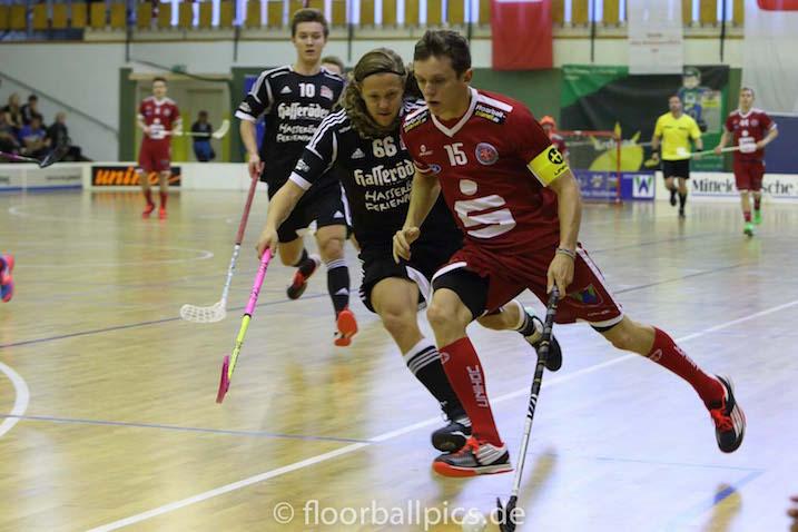 Joel Ekroos pelasi tänään reilut 40 minuuttia pelistä. Arkistokuva: Matthias Kuch / floorball-pics.de
