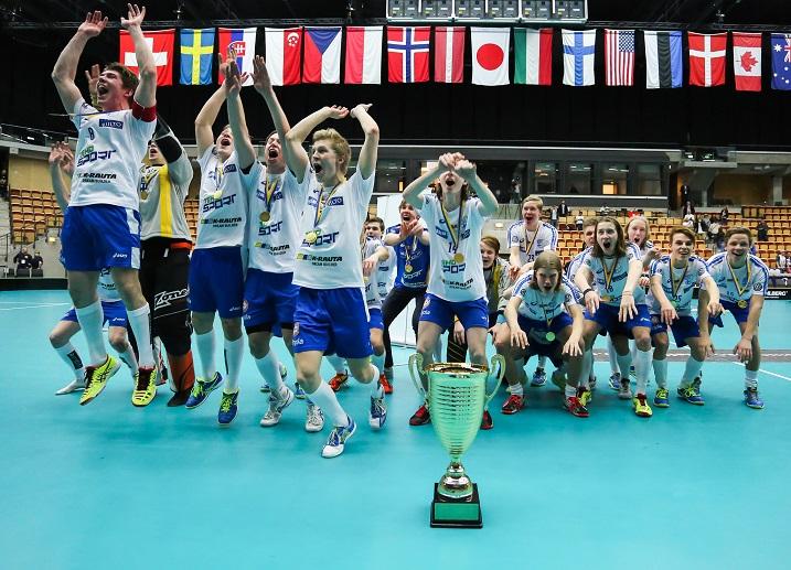 Suomi on uusi alle 19-vuotiaiden poikien maailmanmestari! Kuva: IFF