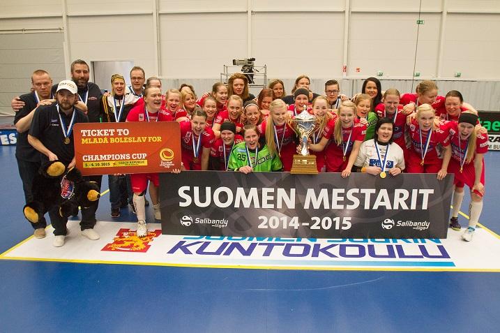 Tänä keväänä naisten Suomen mestaruutta juhlinut Classic aloittaa Champions Cupissa suoraan välieristä. Kuva: Topi Naskali