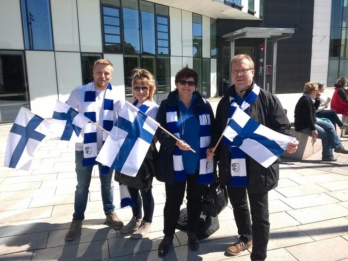 Suomen värit olivat hyvin edustettuina. Kuva: Anssi Karjalainen