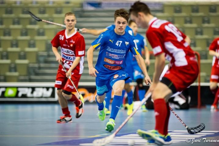 Tatu Kiipeli (numero 47) teki kaudella 2014–2015 todellisen läpimurron liigakentille. Arkistokuva: Jari Turunen