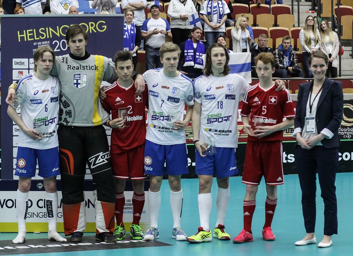Rasmus Kainulainen (nro. 18) valittiin nuorten MM-kisojen tähdistökenttään.  Tehopisteet 4+8 oikeuttivat MM-kisojen pistepörssin kakkossijaan. Kuva: Mika Hilska