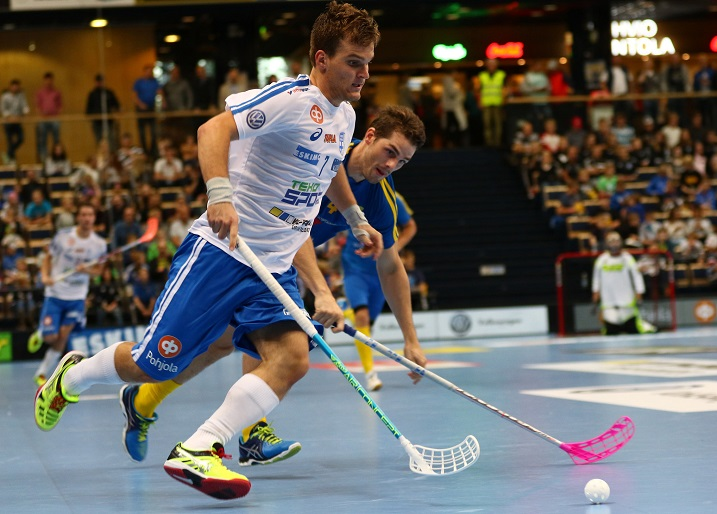 Janne Hoikkanen osui heti uransa ensimmäisessä maaottelussa. Kuva: Juhani Järvenpää
