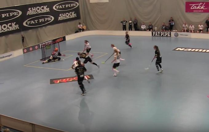 Kooveen naiset voittivat Turun Palloseuran sarja-avauksessaan. Kuva: Kuvakaappaus videolta.