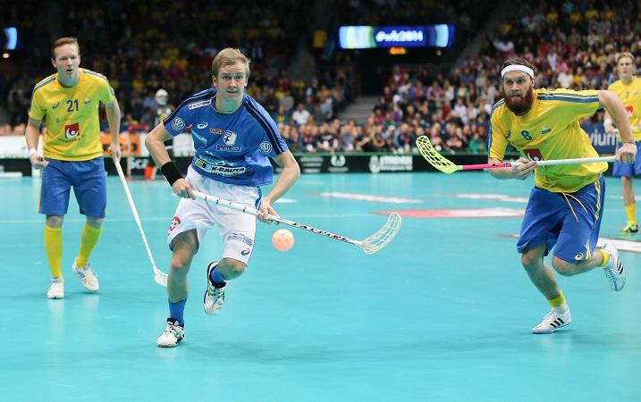 Suomi ja Ruotsi kohtaavat perjantaina Vantaan Energia Areenalla ja sunnuntaina Malmön Baltiska Hallenissa. Kuva: Salibandyliiga