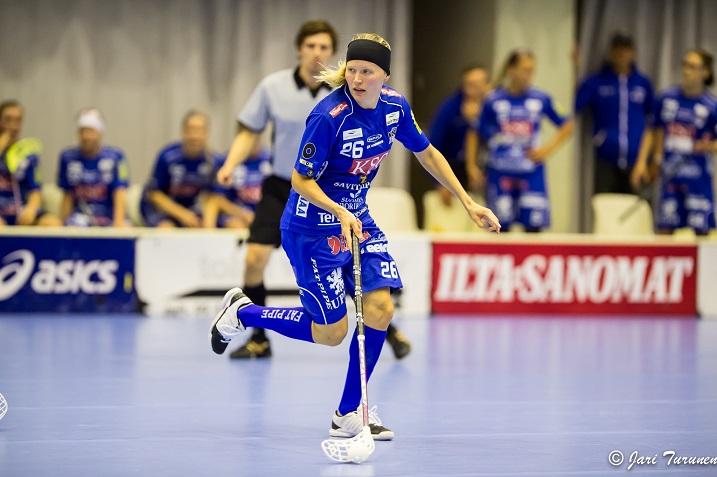 NST:n paitaan palannut Tiia Ukkonen on rankingin viidennellä sijalla.  Kuva: Jari Turunen