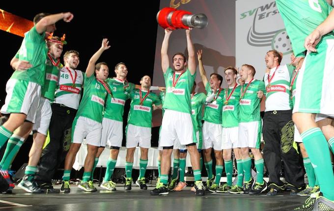 SV Wiler-Ersigen voitti ensimmäisen Indoor Sports Supercupin. Kuva: Keller Erwin / unihockey.ch.