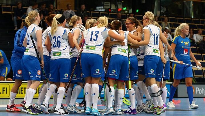 Suomen naisten maajoukkue Tampereen EFT-turnaukseen on nyt valittu. Kuva: Salibandyliiga
