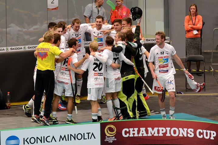 Wiler-Ersigen eteni Champion Cupin finaaliin.  Tatu Väänänen, Riku Kekkonen ja Jami Manninen tuovat joukkueeseen suomalaisväriä. Kuva: IFF