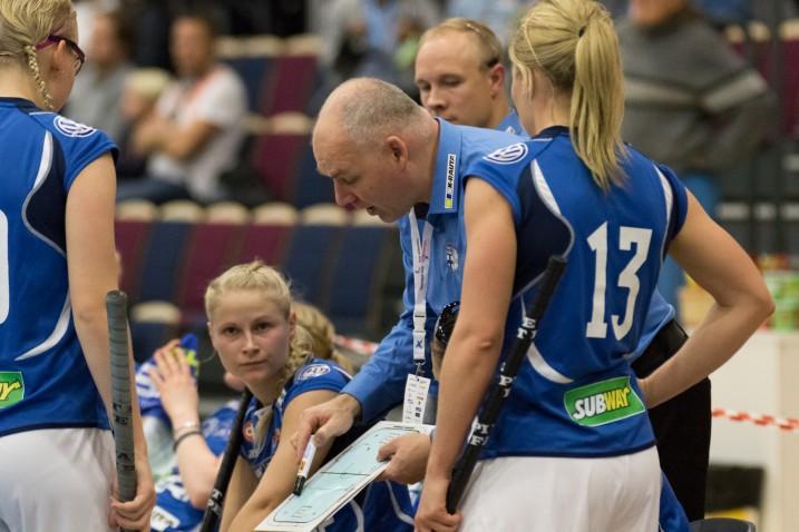 Suomen naisten MM-joukkue valittiin lauantaina. Arkistokuva: Salibandyliiga