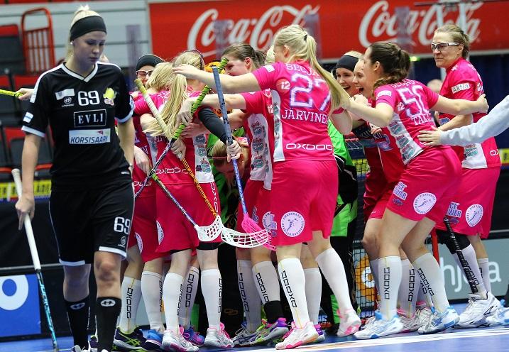 Classic oli viime kauden Suomen Cupin finaalissa SB-Prota etevämpi lukemin 4-7. Nyt joukkueet kohtaavat jo välierissä. Kuva: Salibandyliiga