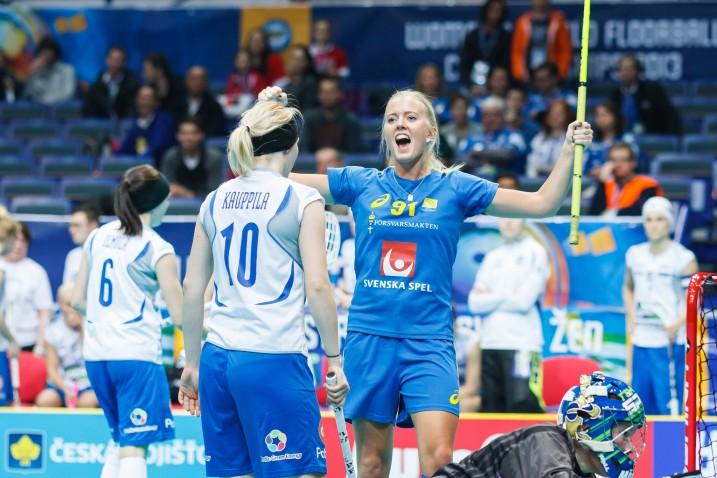 2013 Tshekin Brnossa ja Ostravassa käydyt MM-kisat päättyivät Suomen osalta finaalitappioon Ruotsia vastaan. Arkistokuva: IFF