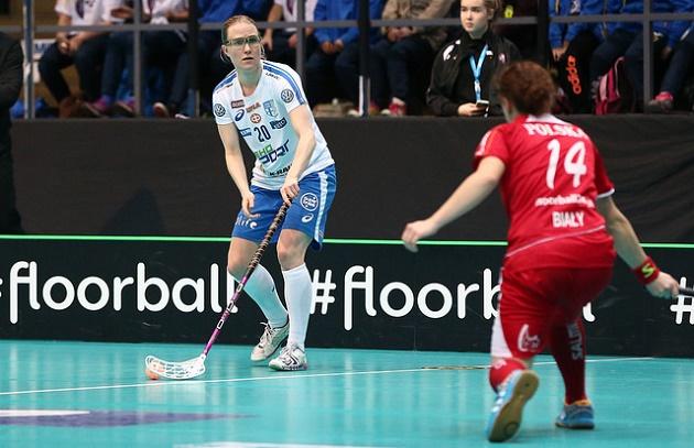 Anne Suomalainen esiintyi vakuuttavasti Puolaa vastaan. Kokonaisuutena Suomen esitys oli varsin vaisu. Kuva: Ville Vuorinen/IFF