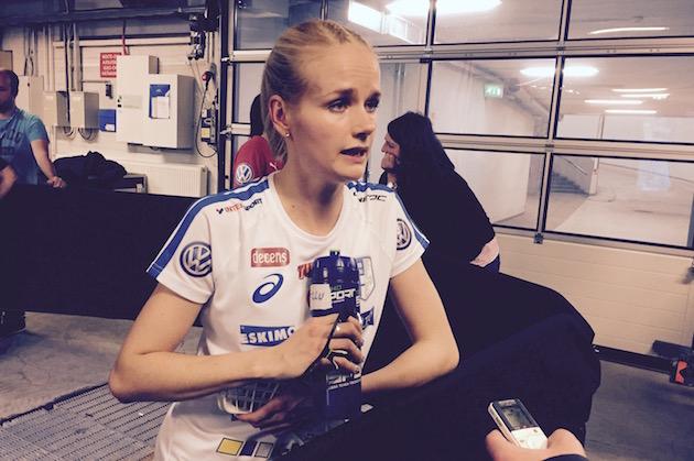 Elina Kujala ei ollut huolissaan MM-välierän jälkeen. Kuva: Jussi Ojala