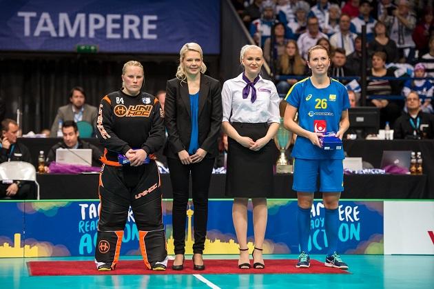 Jonna Mäkelä valittiin edellisen kerran MM-kisojen tähdistökentälliseen vuonna 2007. Kuva: Jari Turunen