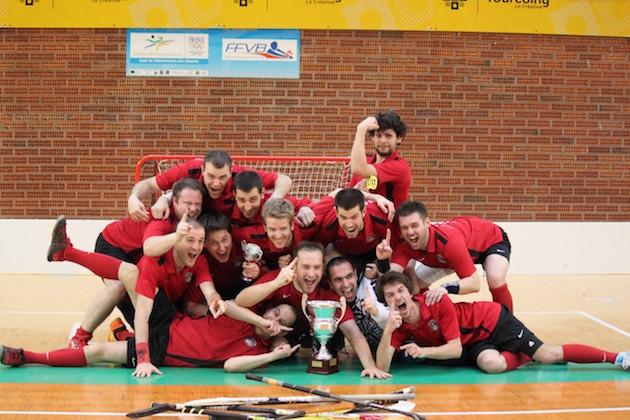 Lyon Floorball Club juhli Ranskan mestaruutta kaudella 2011-2012. Kuva: Nicolas Lévrier
