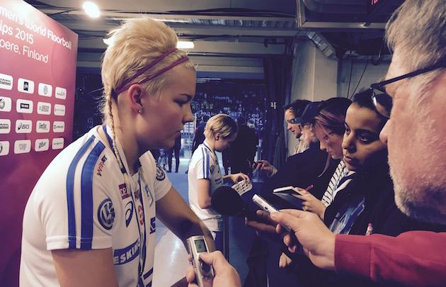 Puolustaja My Kippilä valittiin MM-kisojen tähdistökentälliseen. Kuva: Jussi Ojala