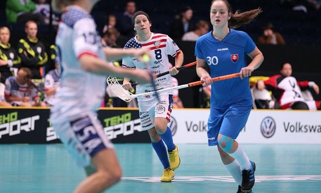 Paulina Hudakova on ollut vahvassa pistevireessä naisten MM-kisoissa. Kuva: IFF
